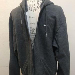 Other - TEAM NIKE Grey Hooded Sweatshirt